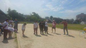 Jornada deportiva en parque chacabuco